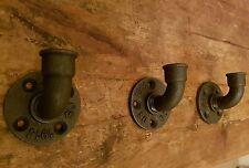 1/2 tubo de hierro maleable Tubo De Rústico Industrial montado en la Pared Toalla Gancho para ropa