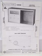 Sams Photofact Folder Parts Manual Wollensak Model A-0448 AM FM Stereo Tuner