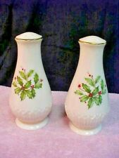 """Lenox """"Holiday"""" Salt And Pepper - Holly & Berries"""