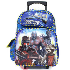 """Guardians of the Galaxy School Roller Backpack 16"""" Large Rolling Trolley Bag"""