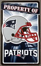 NFL Licensed New England Patriots Property Sign Plastic Decor Football League