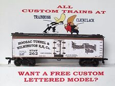 Ho Custom Lettered Hoosac Tunnel & Wilmington Rr Co. Boxcar Reefer Lot B