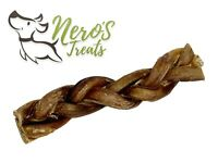 Dog Bones  8-10'' Braided Bully Stick (2 Counts) Odor-free!