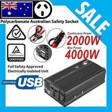Car Inverter Modified Sine Wave 2000W(4000W Max)12V- 240V 1A USB with Car Plug P