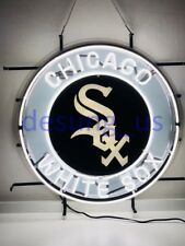 "New Chicago White Sox Light Lamp Gift Baseball Neon Sign 24"" Hd Vivid Printing"