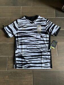 Nike Dri-Fit South Korea White Black Soccer Jersey Shirt Medium Zebra CQ9158 100