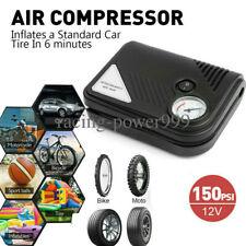 Tire Inflator Car Air Pump Compressor Electric Portable Auto 12V Volt 150 PSI US