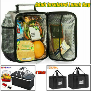 Adult Insulated Lunch Bag Coolbag Work Picnic Food School Kids Storage Lunchbox