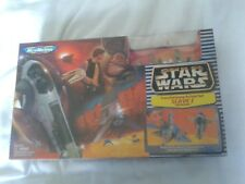 STAR WARS MICRO MACHINES BOBA FETTS SLAVE 1 TRANSFORMING ACTION SET NEW & SEALED