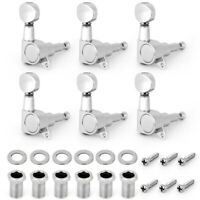 Electric Guitar Tuning Pegs Machine Heads Tuners Right Chrome 18:1 Ratio