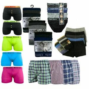 3,6 Pack Mens Underwear Boxer Neon Colour Briefs Shorts Adults Underpants Trunk