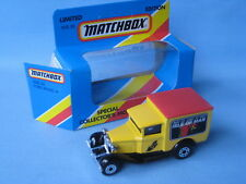 Matchbox MB-38 Ford Model A Van Isle of Man TT 1988 Yellow Toy Model Truck