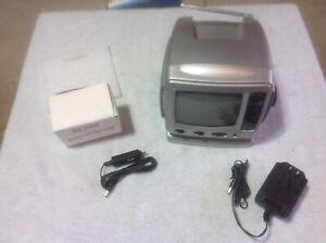 "SPECTRA  TV 5"" Portable Black & White TV-52BW Television Battery AC DC Car Plug"