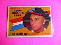 1960 TOPPS baseball Set Break #129 Bob Hartman Braves, NmMt High Grade