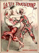 1925 La Vie Parisienne Madrigal Carnavalesque France Travel Advertisemnt Poster