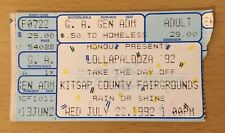 1992 PEARL JAM SOUNDGARDEN STP ICE CUBE LOLLAPALOOZA SEATTLE CONCERT TICKET STUB