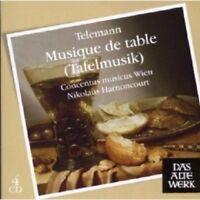 NIKOLAUS HARNONCOURT/CMW-TAFELMUSIK 4 CD  69 TRACKS GEORG PHILIPP TELEMANN NEW+