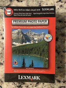 NEW! LEXMARK Inkjet 4 x 6 Premium Glossy Photo Paper 140 sheets