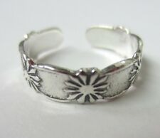 2pcs Solid 925 Sterling Silver Adjustable Toe Ring Solid 925 Jewelry