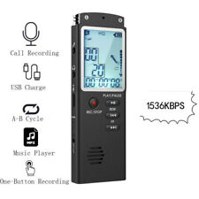 Diktiergerät 32GB Digital Audio Voice Recorder Aufnahmegerät Sprachaufnahme USB