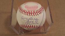 Tri-Star TNA Knockouts Angelina Love Auto Autograph & Kiss Baseball #ed 11 / 12