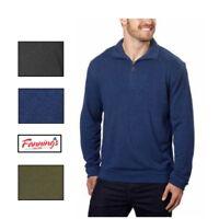 SALE! Hudson River Men's Long Sleeve 1/4 Zip Pullover Sweater VARIETY!