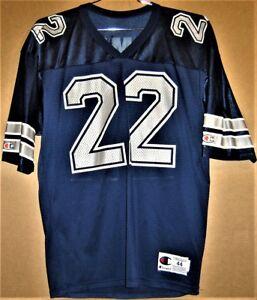 DALLAS COWBOYS EMMITT SMITH #22 NAVY Champion Size 44 NFL Football JERSEY