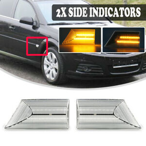 For Opel Vauxhall Vectra C Signum LED Side Repeater Indicator Light Turn Signal