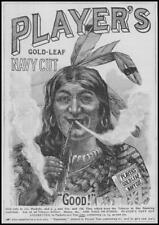 1896 ADVERTISING Players Gold-Leaf Navy Cut Cigarettes Red Indian (64)