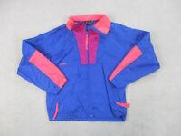 VINTAGE Columbia Jacket Women Medium Blue Pink Outdoors Full Zip Ladies 90s B96
