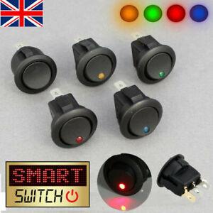 5 x Smart Switch 12V Round Rocker ON/OFF Switch Car/Van/Dash/Boat LED Light UK