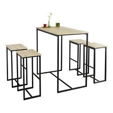SoBuy Mesa alta de bar Comedor Mesa Set de 4 Taburetes y 1 Mesa OGT15-N,ES