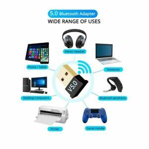 USB Bluetooth 5.0+EDR Adapter Dongle für Windows 10/8.1/8/7/XP/ PC Laptop Audio