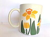 Vintage Nina Yellow Daffodils  Floral Design Coffee Cup  Mug  CHD 1983 Some Wear