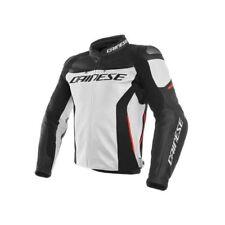 Giacca Moto Pelle Dainese Racing 3 Bianco Nero Rosso Non applicabile 52