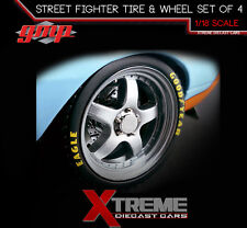 GMP 18839 1:18 1968 CAMARO GULF OIL STREET FIGHTER WHEEL & TIRE SET OF 4
