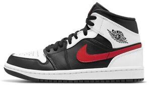 Air Jordan 1 Mid Chile Red Black White Grey Retro 554724-075