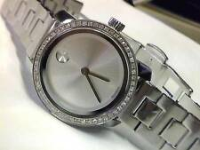 Movado BOLD  Ladies 25mm Stainless Steel & Diamond Watch