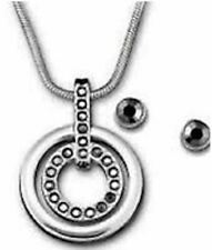 NWT Swarovski Necklace Earrings Circle Set 5030714