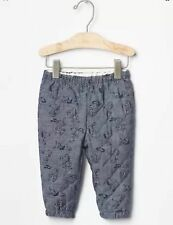 NWT- Baby Gap -Peanuts Snoopy Blue Quilted Chambray Pants 0-3, 3-6 Months  ($30)