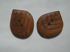 One Handmade Rosewood Timber Button, 32mm x 25mm, Item 227
