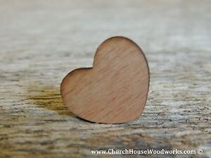 "100 qty 1"" Blank Dark Wood Hearts Table Confetti Wooden Wedding Heart Shape"