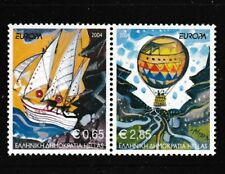 Europa 50 years Tall Ship Balloon se-tenant pair of stamps mnh 2004 Greece #2110