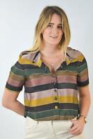 TOPSHOP  Womens Cotton Chambray Shirt Cornflower Blue BlouseSALERRP £28