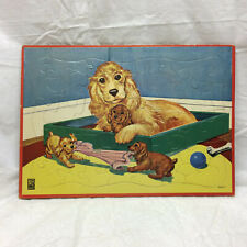 Vintage Cardboard Puzzle Milton Bradley Dogs Childrens Toy
