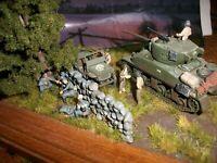 "1/72 gebaut/built "" top Diorama D-Day verdammt nahe Landser GI "" bemalt/painted"