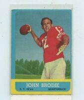 JOHN BRODIE 1963 Topps #134 San Francisco 49ers