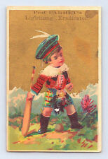 PARRET'S QUILLAYA BARK Cleaner VICTORIAN Trade Card / W B LAWRENCE Brooklyn NY