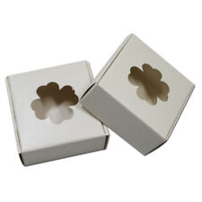Four Leaf Clover Hollow Kraft Paper Box Folded Jewelry Toy Gifts Packaging Boxes