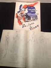 PROGRAM Fund Raiser Chateau de Versaille, c1953 WITH FASHION DRAWINGS Attendees